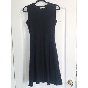 Tory Burch black knit sleeveless dress